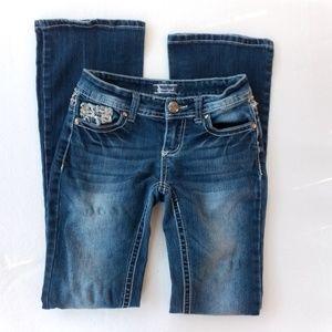 Soundgirl bootcut Jeans embellished stitching 1